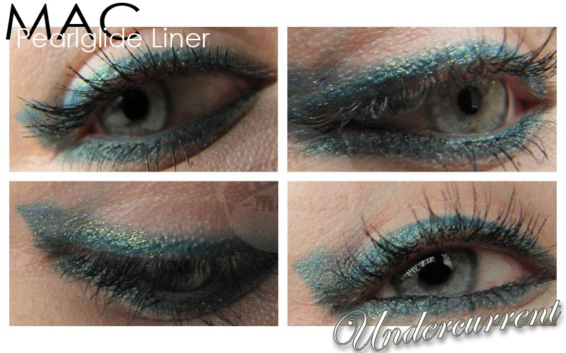 MAC'Undercurrent' Pearlglide Liner Intense am Auge