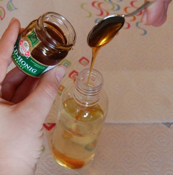 Badeöl: Honig hinzu