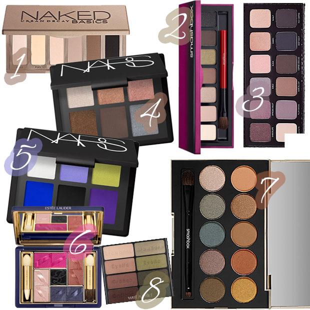 Meine Paletten 2013 Urban Decay Naked Basics Smashbox Estee Lauder Laura Mercier Wet Wild