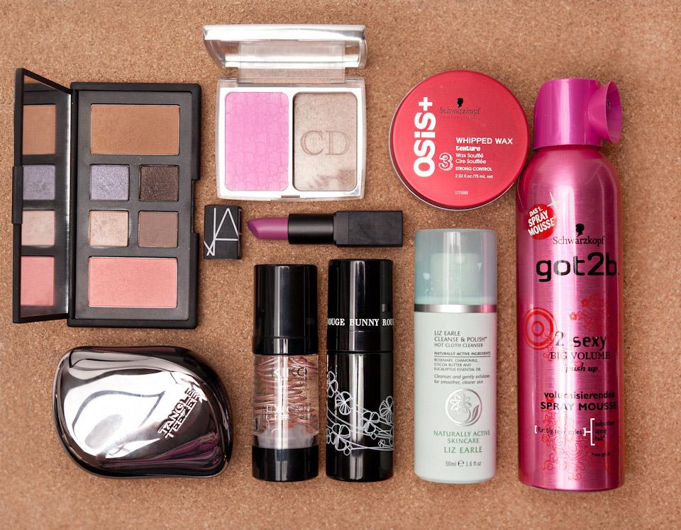 Beauty-Favoriten-Januar-Februar-2014-NARS-Dior-OSIS-got2b-Liz-Earle-Rouge-Bunny-Kiko