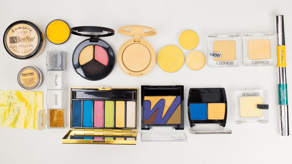 Yellow Eyeshadow Comparison – gelbe Lidschatten im Vergleich