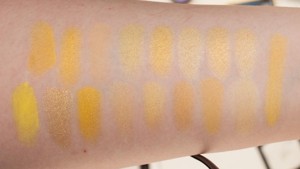 Yellow Eyeshadow Swatches: Flash Light