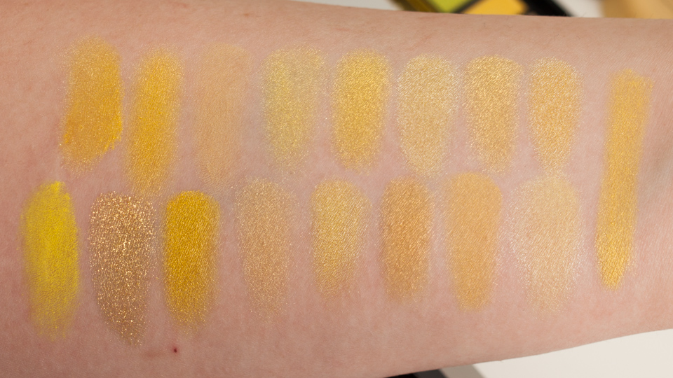 Yellow Eyeshadow Swatches: Lamp