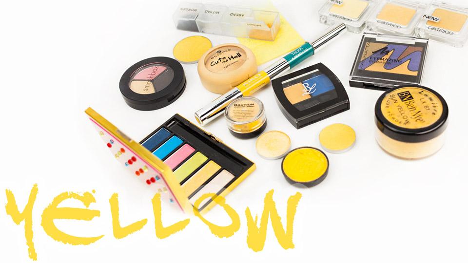 Yellow Eyeshadows gelbe Lidschatten MAC essence Catrice Ben Nye Minerals Rival de Loop Kiko Swatches