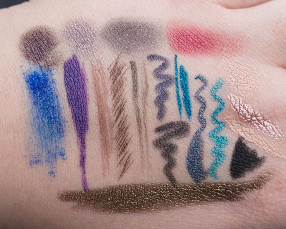 whats in my bag eye makeup product swatches