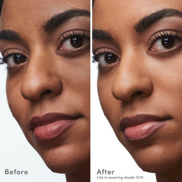 COVER FX Natural Finish Oil Free Foundation Before After