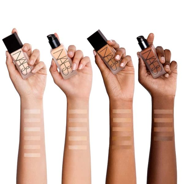 NARS All Day Luminous Weightless Foundation Swatches