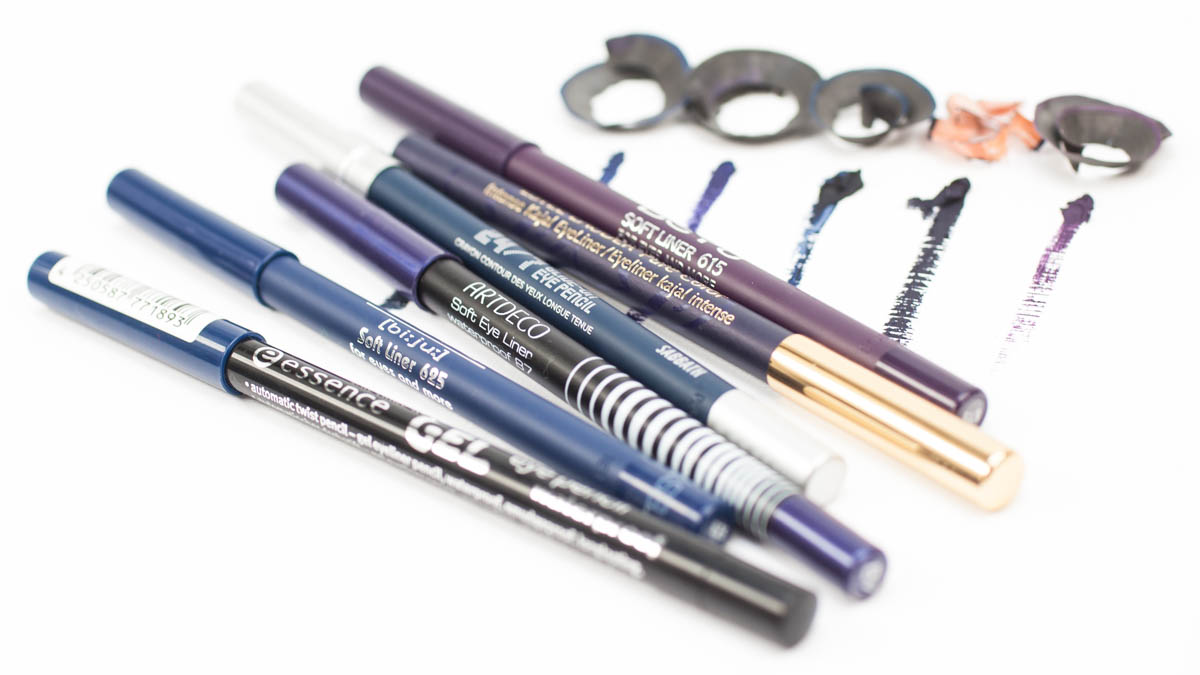 Waterproof Gel Eye Pencils Violet Blue