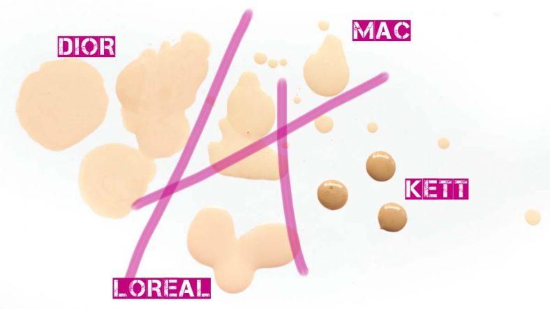Airbrush vs Super Fluid Foundation MAC Pro Performance HD DIOR Nude Air Drops