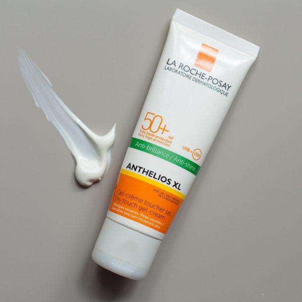 LA ROCHE POSAY Anthelios XL SPF 50 plus LSF Anti-Shine Gel-Creme Textur Tube Erfahrungen Empfehlung