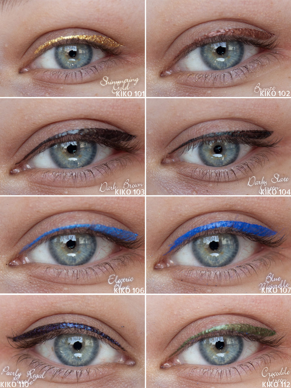 KIKO Super Colour Eyeliner Swatch Lid