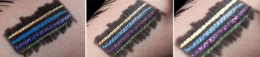 KIKO Super Colour Eyeliner Black Base Swatches
