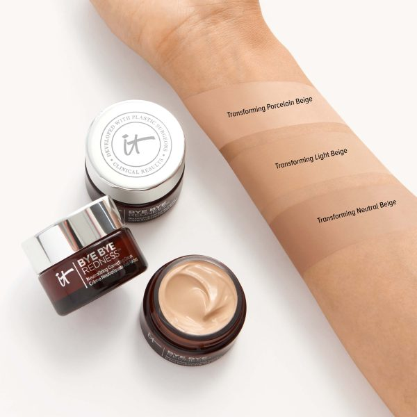 IT COSMETICS Bye Bye Redness Correcting Cream Swatches