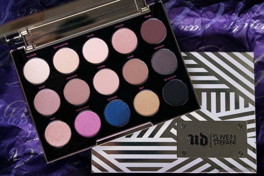 URBAN DECAY Gwen Stefani Eyeshadow Palette Makeup Review