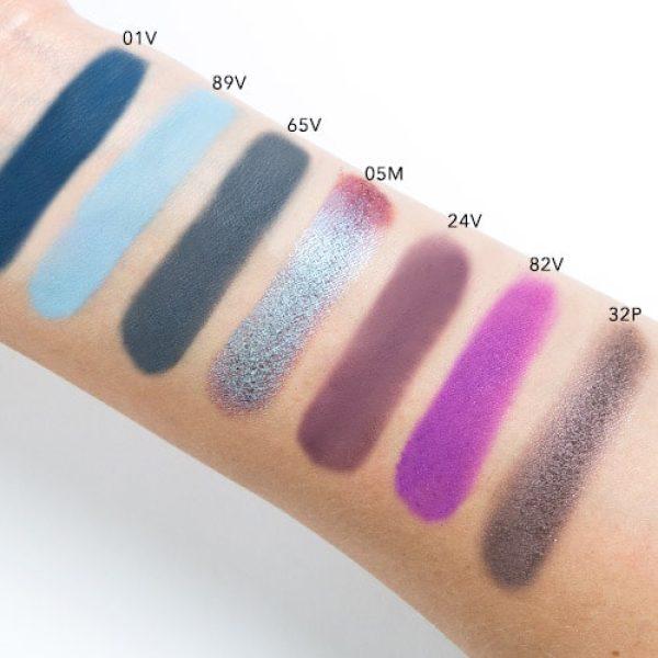 NATASHA DENONA Eyeshadow Palette 28 Purple Blue Swatches 5
