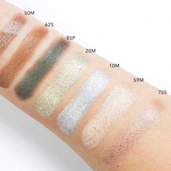 NATASHA DENONA Green Brown Eyeshadow Palette Swatches 1