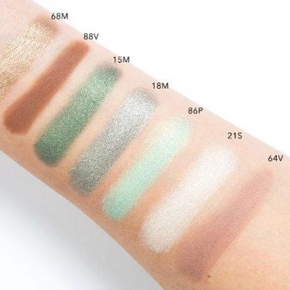 NATASHA DENONA Green Brown Eyeshadow Palette Swatches 2
