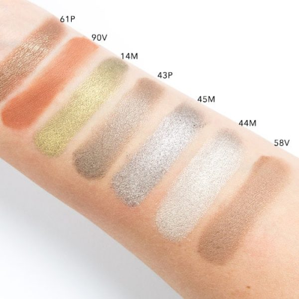 NATASHA DENONA Green Brown Eyeshadow Palette Swatches 3