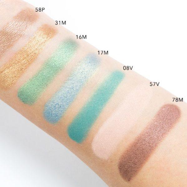 NATASHA DENONA Green Brown Eyeshadow Palette Swatches 4