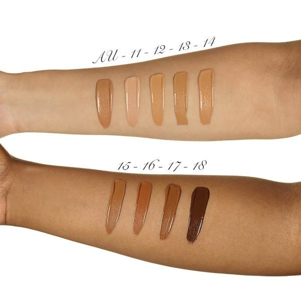 ILLAMASQUA Skin Base Foundation Makeup Swatches dark