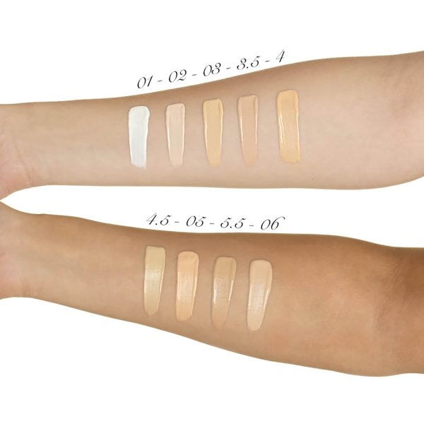 ILLAMASQUA Skin Base Foundation Makeup Swatches fair