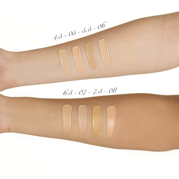 ILLAMASQUA Skin Base Foundation Makeup Swatches light