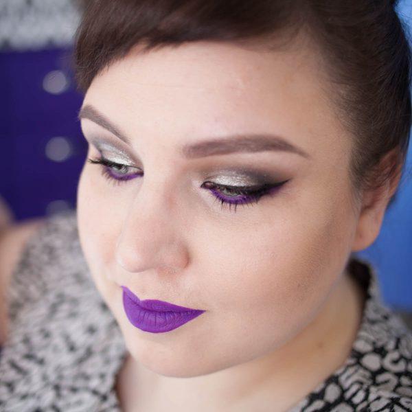Silver Electric Purple Makeup Look NATASHA DENONA COLOURPOP LIME CRIME 4