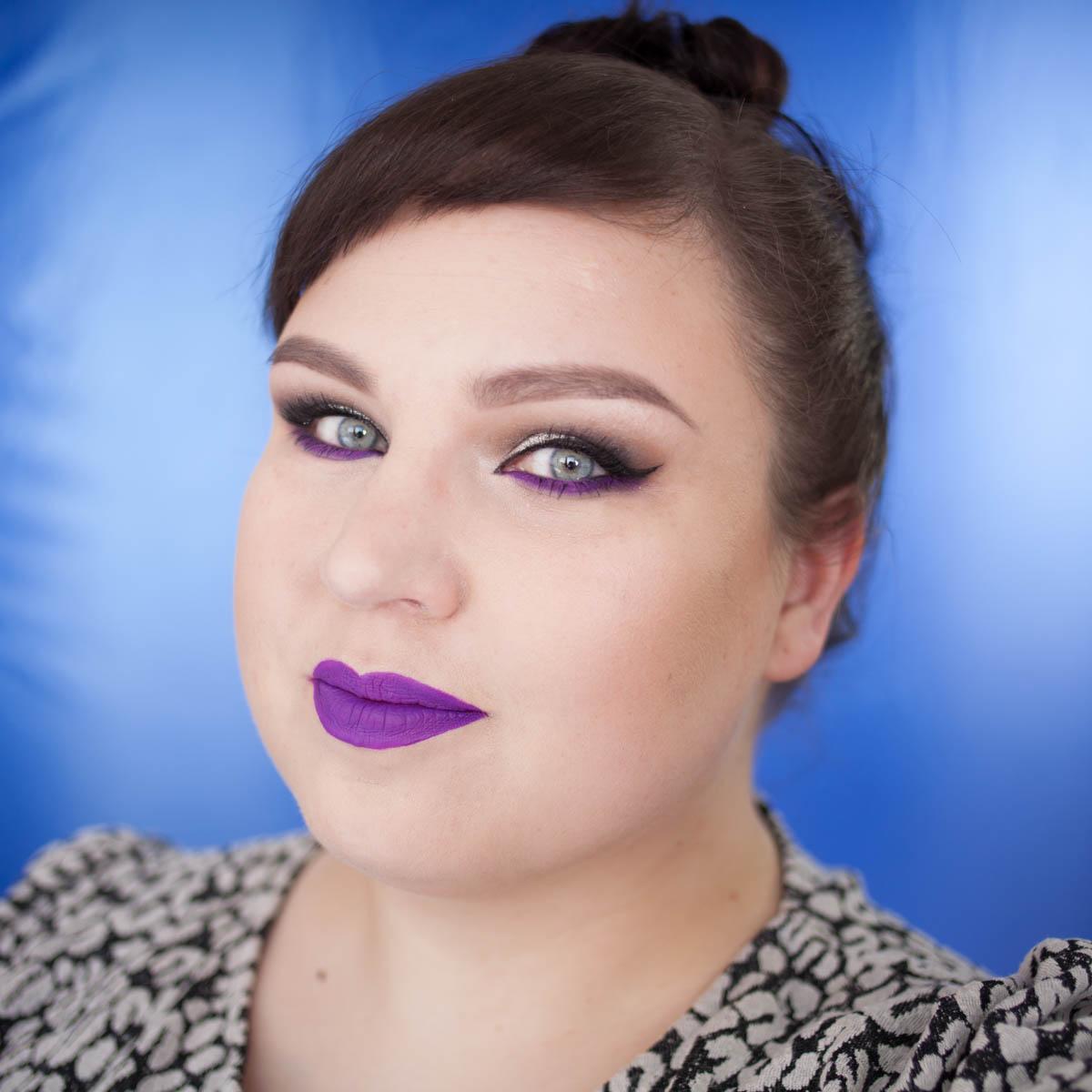 Silver Electric Purple Makeup Look