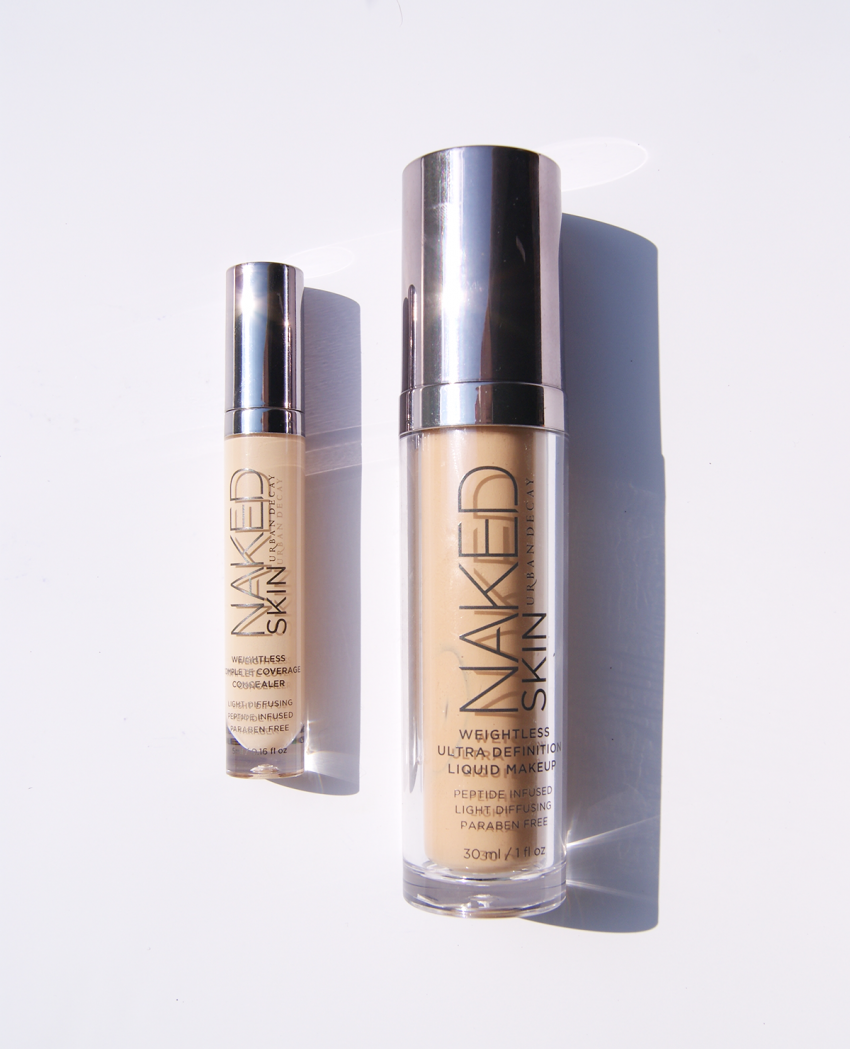 URBAN DECAY Naked Skin Liquid Makeup und URBAN DECAY Naked Skin Weightless Complete Coverage Concealer