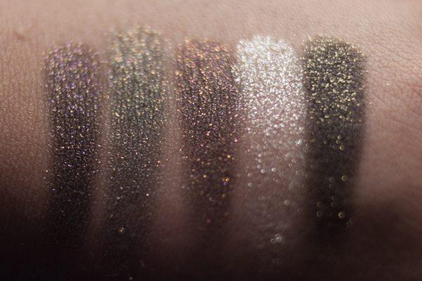 URBAN DECAY Ether Moondust Eyeshadow Scorpio Cosmic MAC Say It Isnt So Dazzleshadow Swatches 2