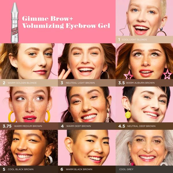 BENEFIT Gimme Brow Tinted Brow Gel Fiber Colors Shades welche Farbe