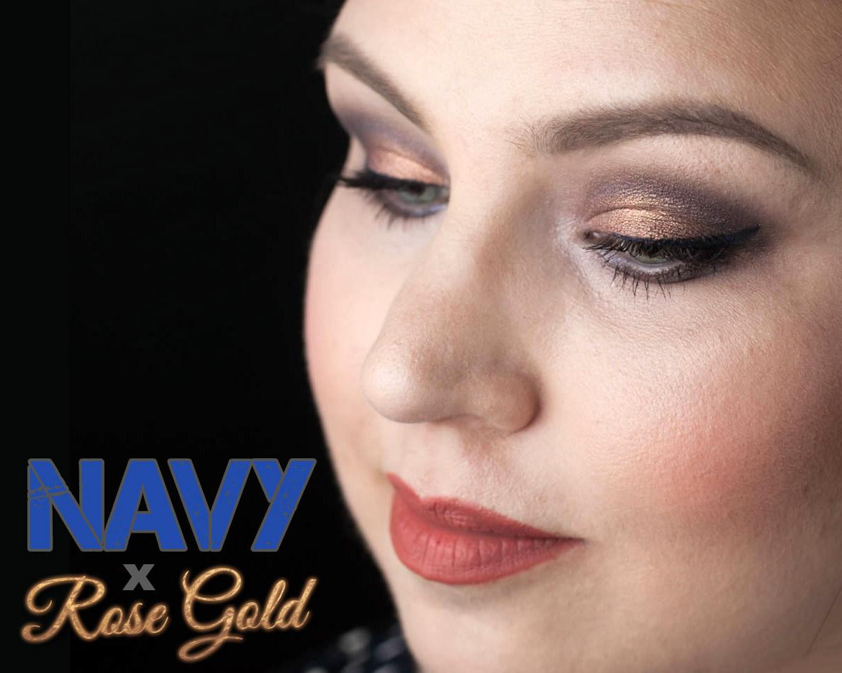 MAKEUP MAC Navy Times Nine ARDENCY INN Rose Gold Eyes Teaser