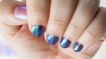 Mermaid Nails Glitter Duochrome Multichrome Glitzer Tutorial Anleitung Meerjungfrauennaegel 6