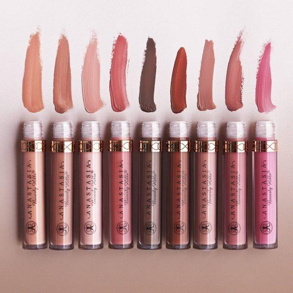 ANASTASIA BEVERLY HILLS Liquid Lipstick Swatches Colors Shades Nuancen Farben