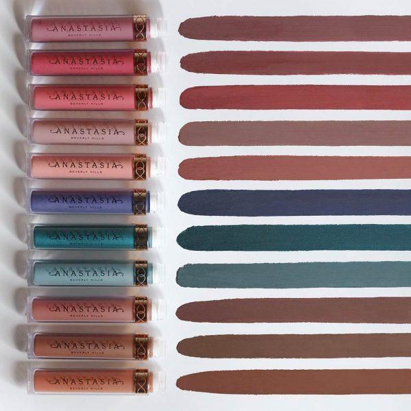 ANASTASIA BEVERLY HILLS Liquid Lipstick Swatches Colors Shades Nuancen Farben Test Review Erfahrungen