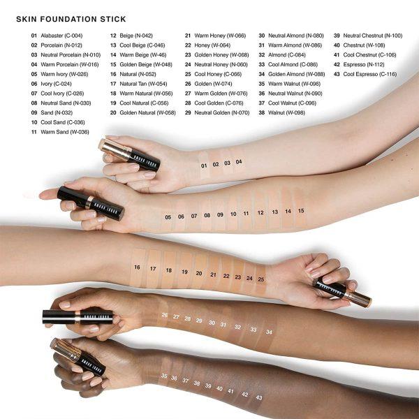 BOBBI BROWN Skin Foundation Stick Swatches