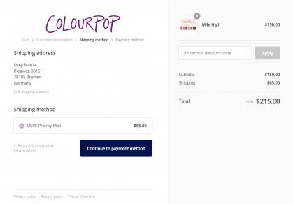 6 x COLOURPOP Eyeshadow Boxes: $65