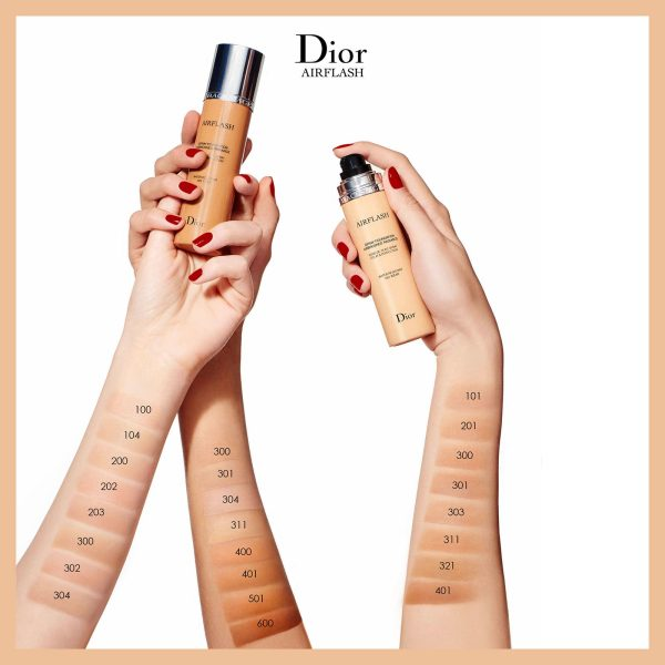 DIOR BACKSTAGE Airflash Spray Foundation Swatches Shades Farben Colors