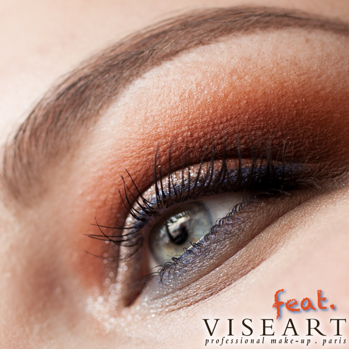 VISEART Dark Matte Palette Makeup Orange Ambient