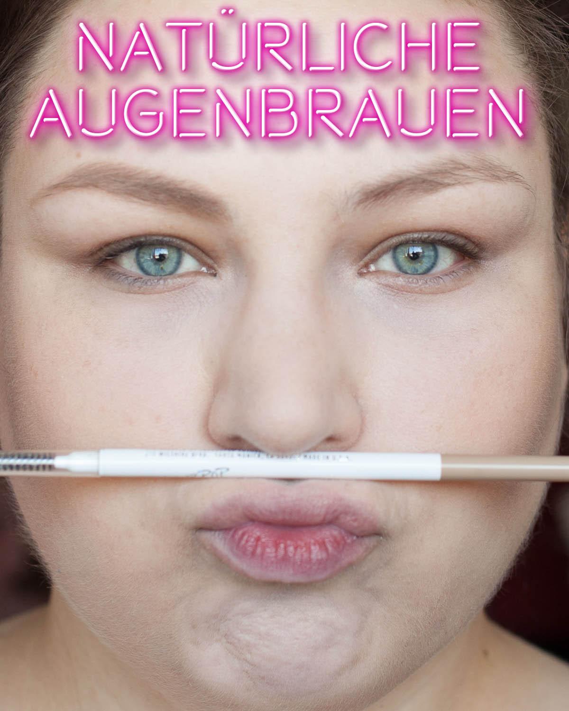 Augenbrauen Tipp heller schminken Braun Blond Taupe