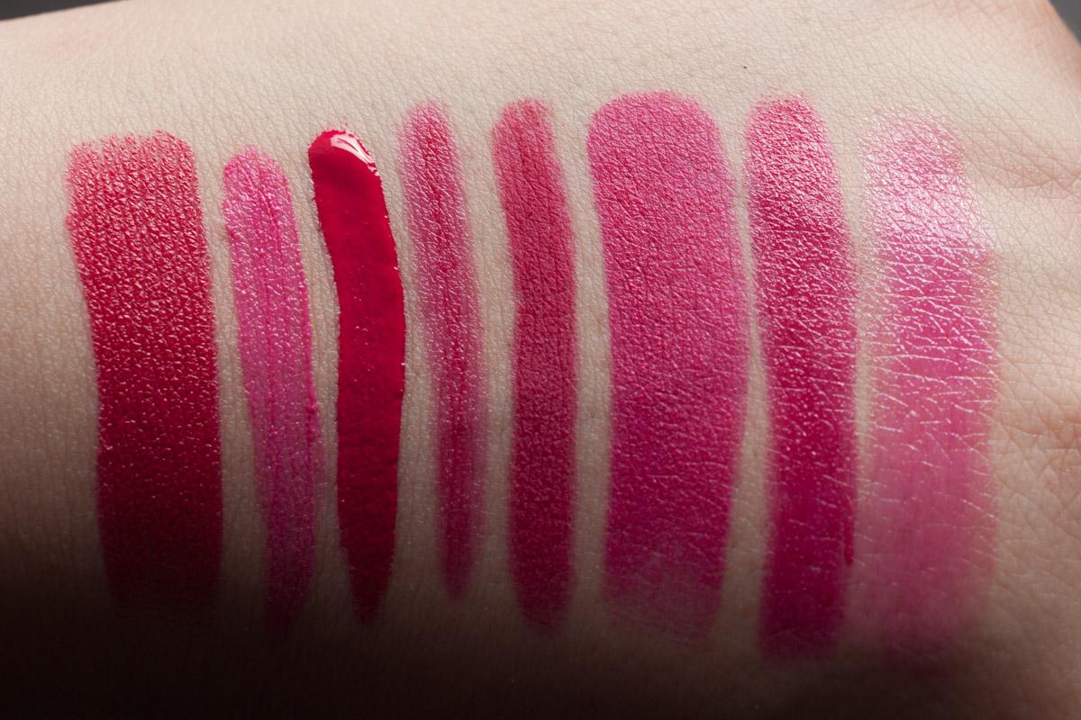 TAGESLICHT | Magenta Pink Lipsticks: URBAN DECAY Catfight | NYX Addis Abiba | MANHATTAN Rich & Gorgeous | e.l.f. Fuchsia | COLOURPOP Poppin' | URBAN DECAY Matte Manice | BITE Pomelino | ASTOR Magic Magenta