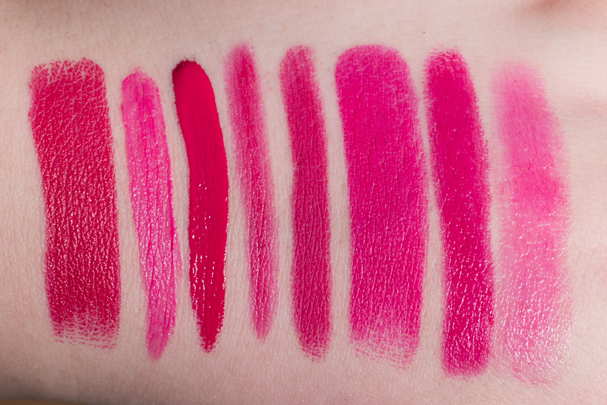 TAGESLICHT indirekt | Magenta Pink Lipsticks: URBAN DECAY Catfight | NYX Addis Abiba | MANHATTAN Rich & Gorgeous | e.l.f. Fuchsia | COLOURPOP Poppin' | URBAN DECAY Matte Manice | BITE Pomelino | ASTOR Magic Magenta