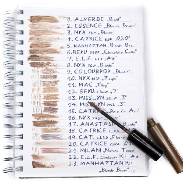 25 Blonde Augenbrauen-Produkte im Vergleich Liste