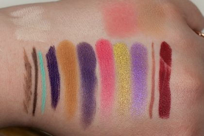 COLOURPOP Makeup Review Highlighter Blush Contour Stix Poison Lace Erotic 43