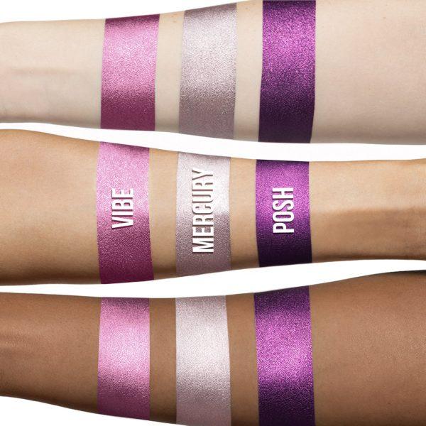 LIME CRIME Metallic Velvetines Liquid Lipstick Swatches Posh Vibe Mercury