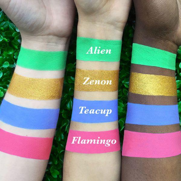 LIME CRIME Metallic Velvetines Liquid Lipstick Swatches Zenon