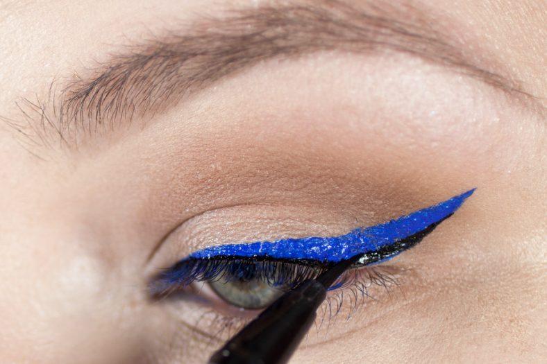 Perfekter Lidstrich: schwarzer Eyeliner