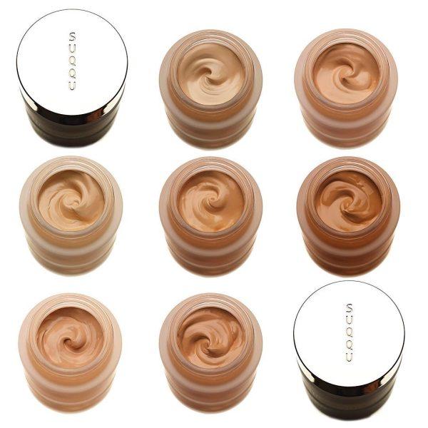 SUQQU Extra Rich Glow Cream Foundation Ambient Shades Colors Swatches Farben Nuancen Farbvergleich