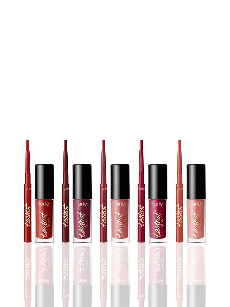 TARTE limited-edition kiss bliss deluxe tarteist™ creamy matte lip paint & crayon set