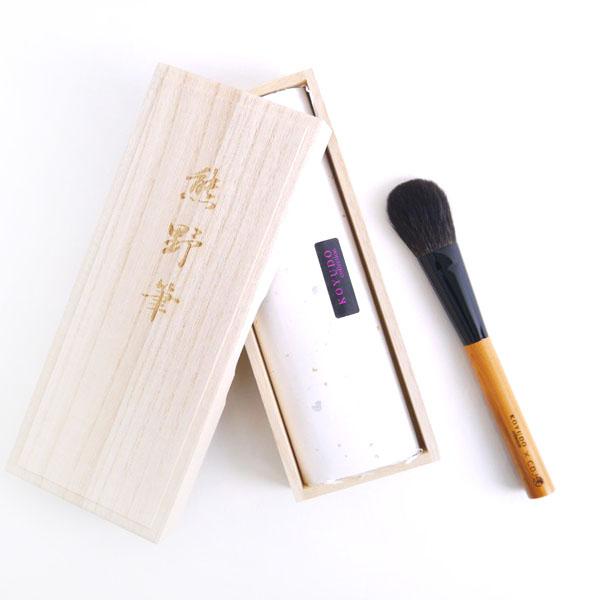 KOYUDO Gray Squirrel & Yakusugi Blush Brush